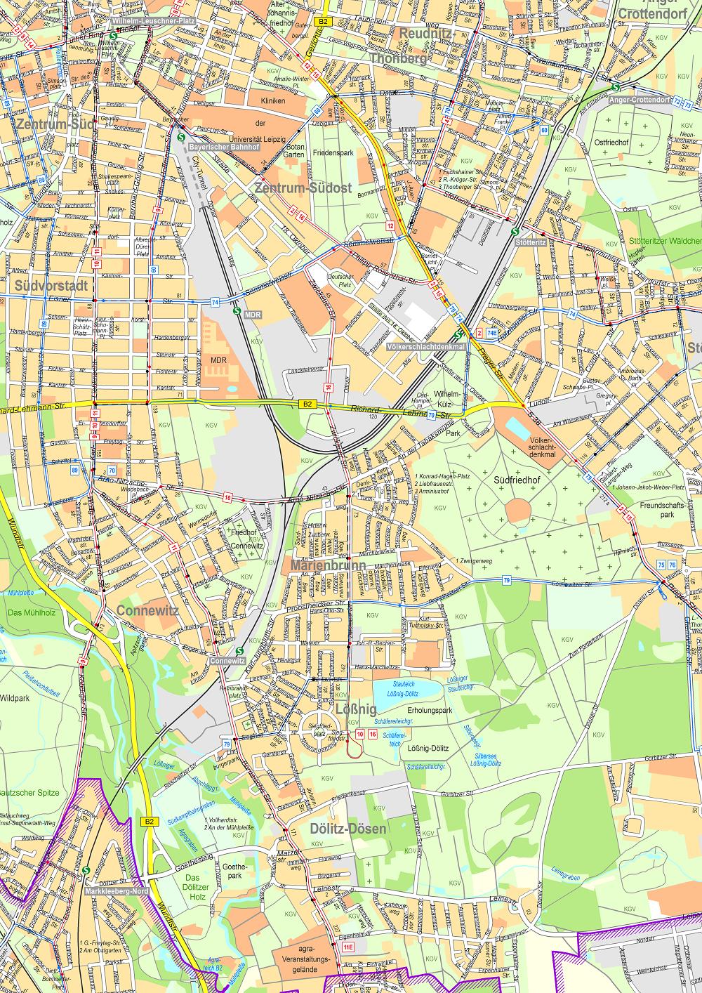Amtlicher Stadtplan - Stadt Leipzig